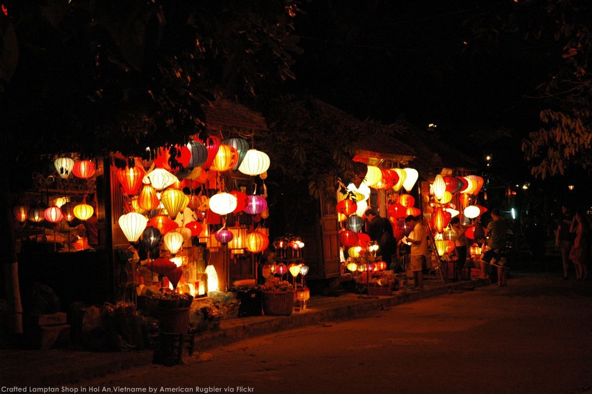 Crafted Lamptan Shop in Hoi An, Vietnam