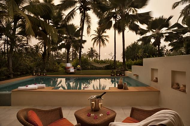 The Taj Exotica, a five-star beachside palace, which has a golf course, a cricket pitch, tennis and a fish restaurant