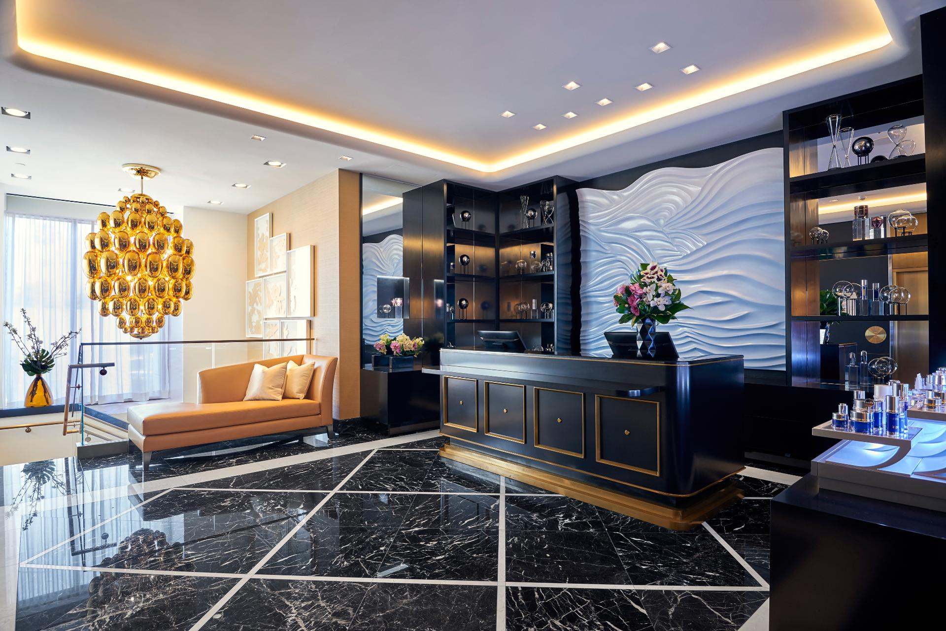 Among the opulent offerings at La Prairie Spa at Waldorf Astoria Beverly Hills is the Diamond Day package, which includes a signature La Prairie Facial and Diamond Perfection Body Treatment, a makeup consultation and a Champagne lunch.