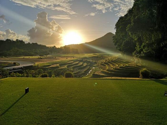 Rice paddies add another spectacular visual element to a course that is regarded by many as Vietnam's most beautiful